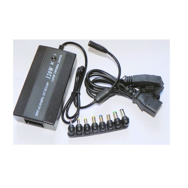 120W NOTEBOOK UNIVERSAL POWER ADAPTER LAPTOP USB CHARGER 12V-24VOLT